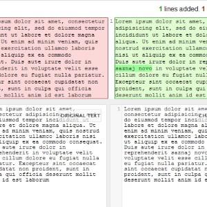Kako pronaći razlike u 2 tekstualna fajla