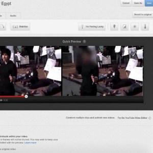 "Youtube opcija ""blur faces"""