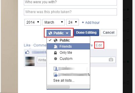 [Facebook] Promena privatnosti za Cover slike