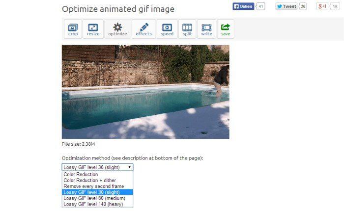 Kako smanjiti veličinu gif animacije