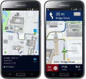 Nokia HERE mape za Android