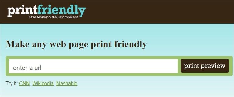 Kako prilagoditi web stranice za štampanje