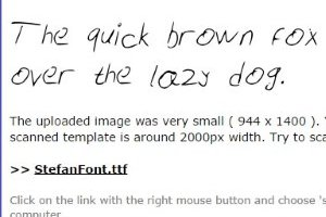 your-font-handwriting
