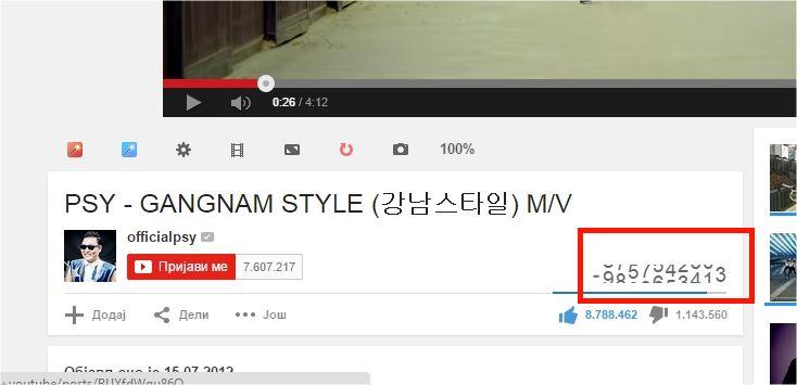 Gangnam Style pokvario Youtube brojač pregleda!