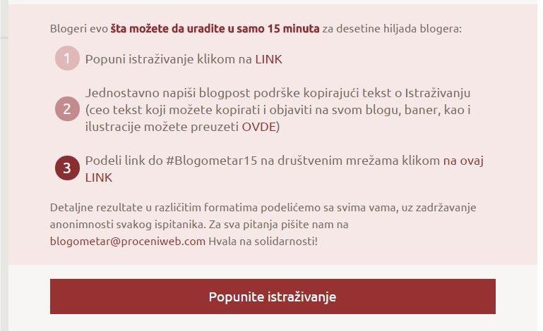 Kako ste, blogeri? Regionalno istraživanje blogosfere #Blogometar15