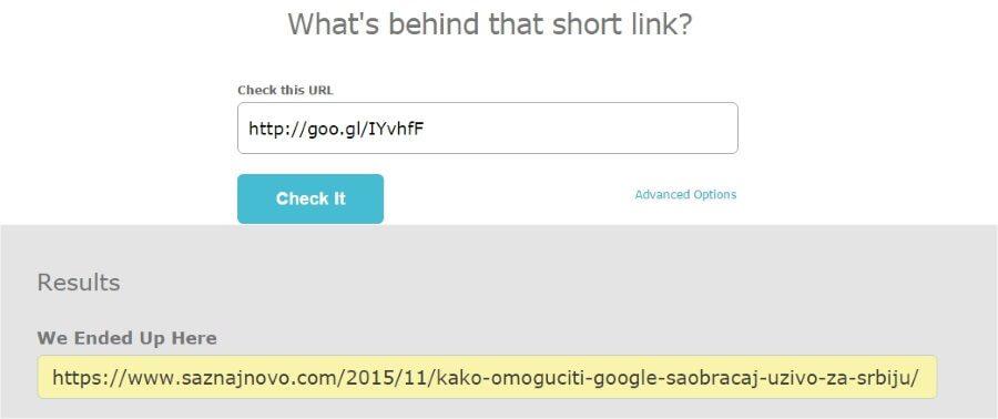 Kako proveriti šta kriju skraćeni linkovi?