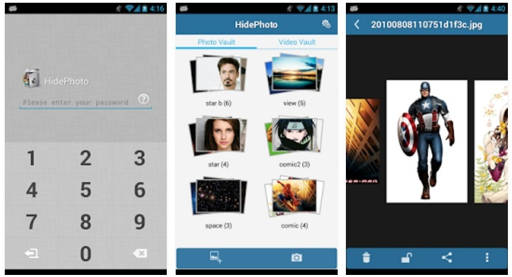 HidePhoto android app