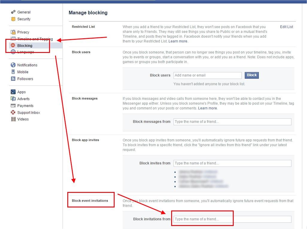 block facebook events invates