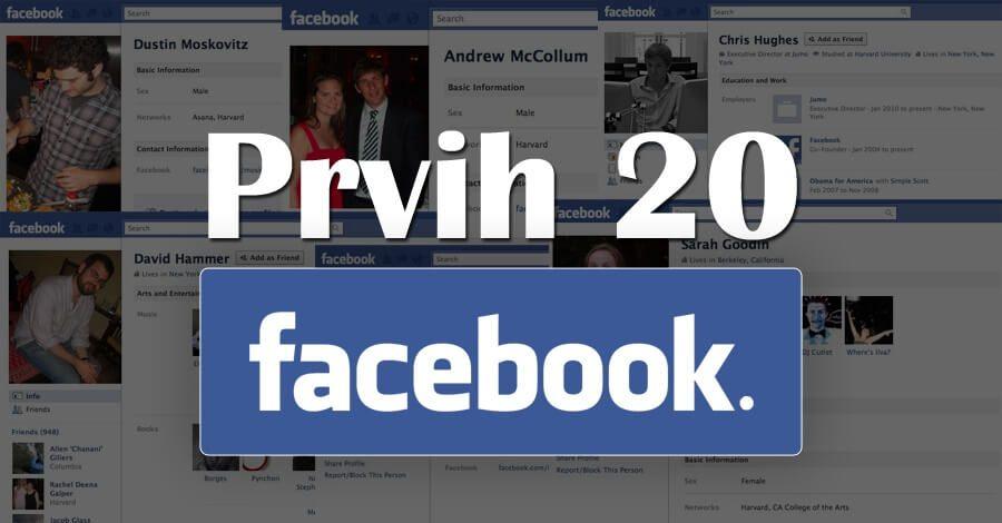Upoznajte prvih 20 Facebook korisnika! (+slike)
