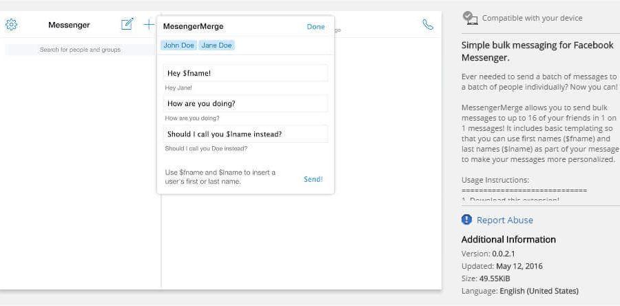 Facebook: pošaljite različitim osobama poruke bez dodavanja u grupu [Chrome]