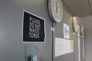 please do not waste toner