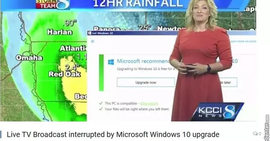 windows 10 weather channel update