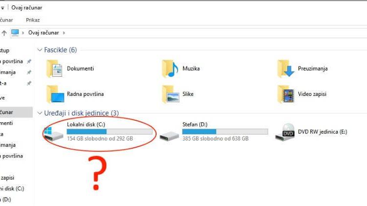 Zašto Windows particija nosi oznaku C a ne A ili B?