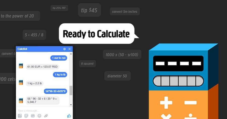Facebook Messenger: kalkulator i konvertor jedinica
