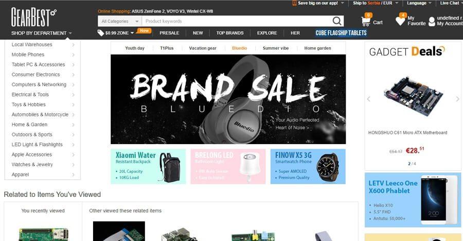 GearBest kupovina iz Srbije – poručivanje, plaćanje, carina