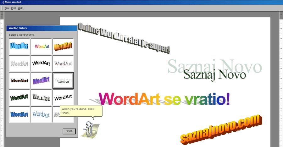 WordArt se vratio i to u online izdanju!