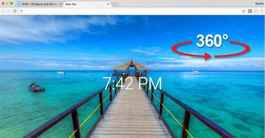 360° slike kao pozadina za novi tab u Chrome-u